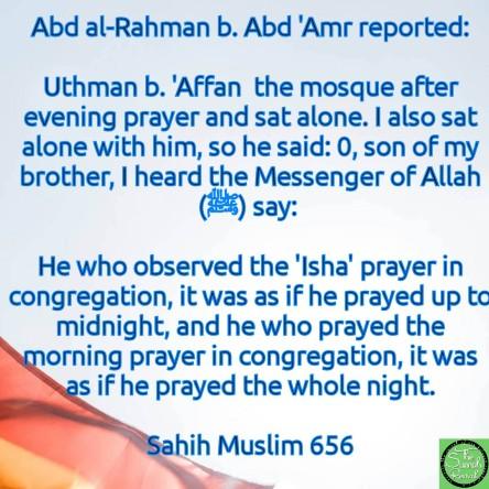 Praying 'Isha and Fajr Prayer im Congregation | The Sunnah